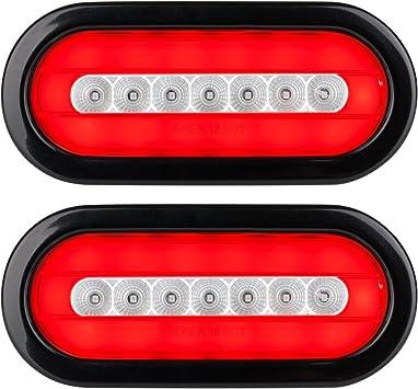 JAMMY Red 10 LED Oval Trailer//Truck Stop Turn Brake Tail Light KIT J-66 LOT 4