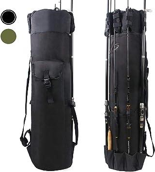 OROOTL Fishing Tackle Bag, Fishing Rod Reel Case Carrier