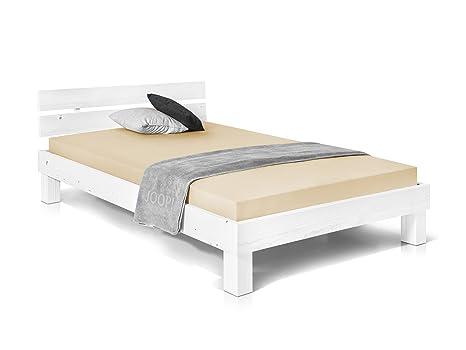 Doppelbett Ehebett Weiß 160x200 schlichte Konstruktion Qualität