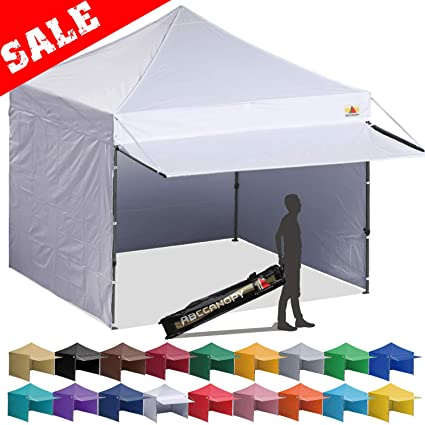 check out 59da0 bcb70 ABCCANOPY Canopy Tent 10 x 10 Pop-up Instant Shelters Commercial Portable  Market Canopies with Matching Sidewalls, Weight Bags, Roller Bag,Bonus ...