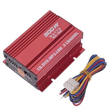 Tinxi - Amplificador pequeño de audio para radio de coche (Hi-Fi, estéreo