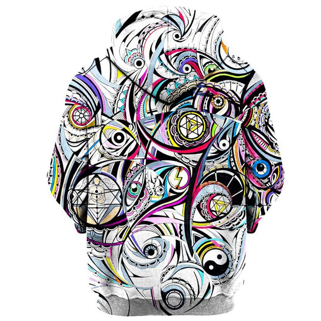 SISEIRES Geometric 3D Hoodies Sweatshirts Unisex Autumn Winter Sportswear Tracksuit