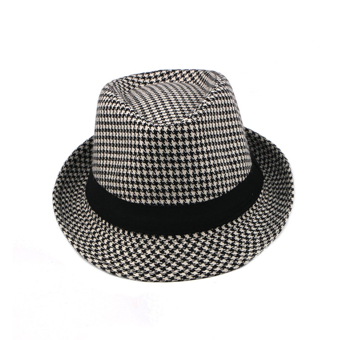 298602f2e CBriskaari Houndstooth Hat Jazz Hat Gentleman Cap All-Match Hat