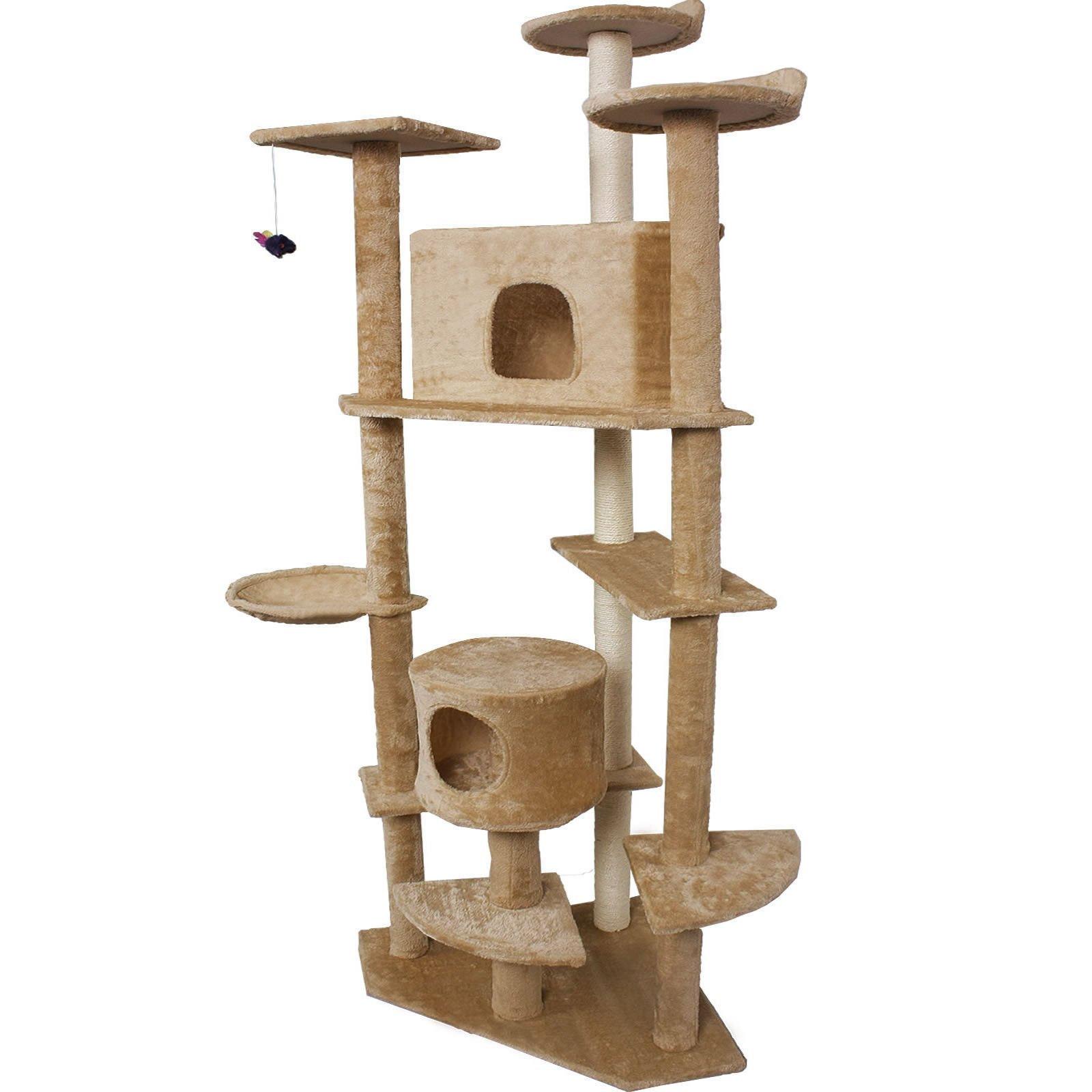 Beige New 80'' Cat Tree Condo Furniture Scratch Post Pet House