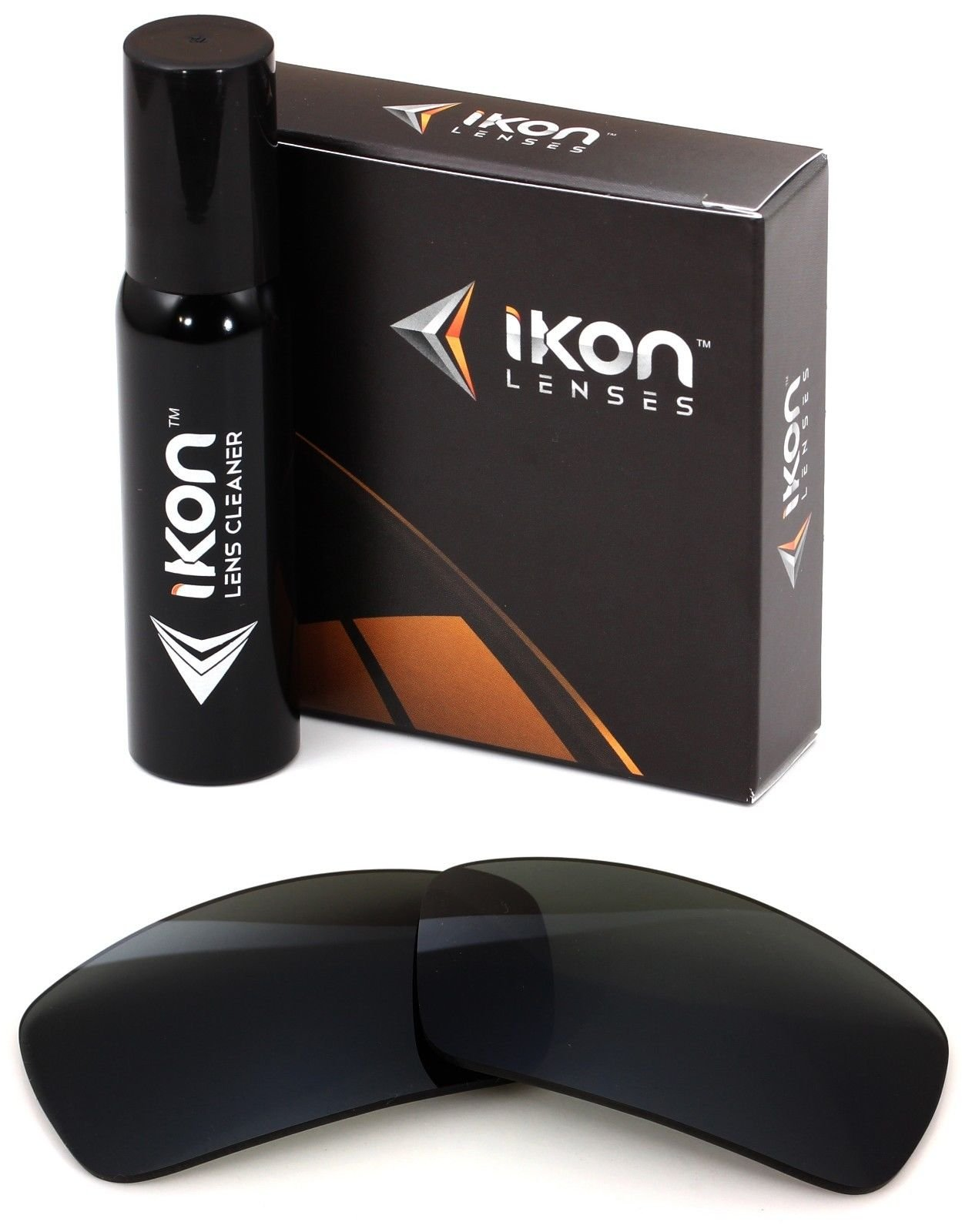 Polarized Ikon Replacement Lenses For Spy Logan Sunglasses - Black by Ikon Lenses