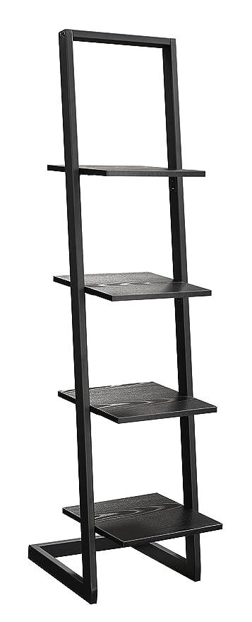 Convenience Concepts Designs2Go 4 Tier Ladder Bookshelf Black