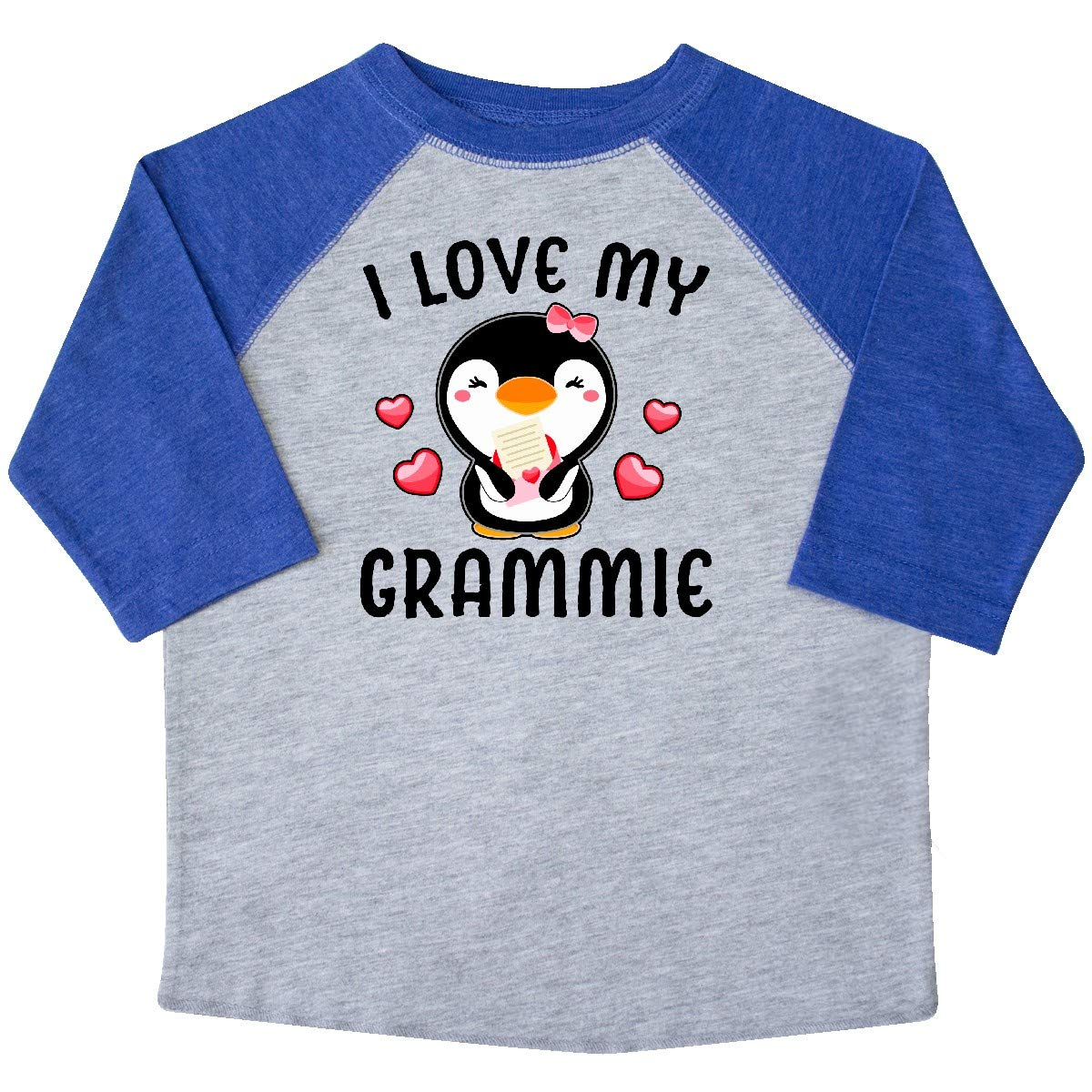 inktastic I Love My Grammie with Cute Penguin and Hearts Toddler T-Shirt