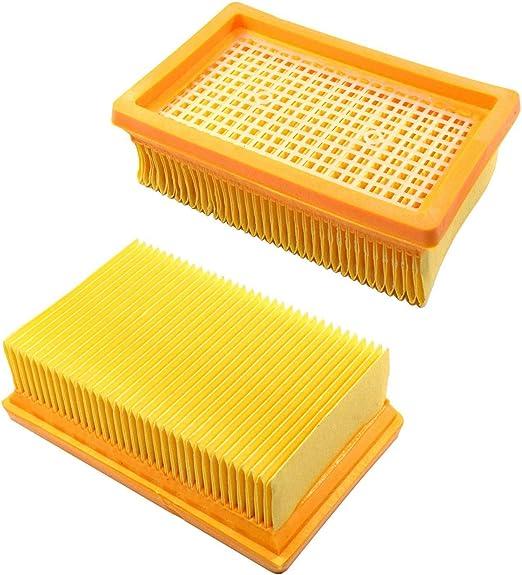 HQRP 2 filtros Plisados Planos para Kärcher WD6, WD6 P, WD 6 P ...