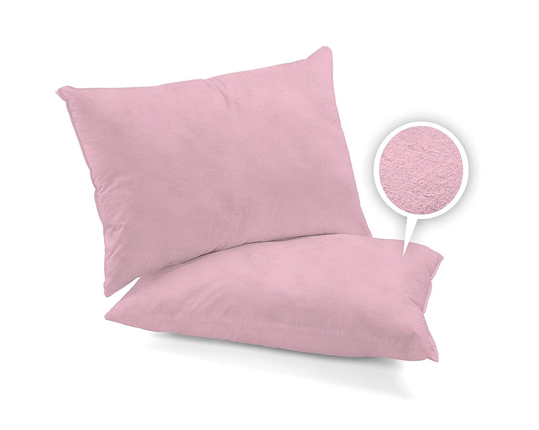 Double Paire de taies doreiller en 6 Couleurs Disponibles Drap Plat Rose ARLINENS Parure de lit en Flanelle Thermique Super Douce 100/% Coton bross/é avec Drap-Housse