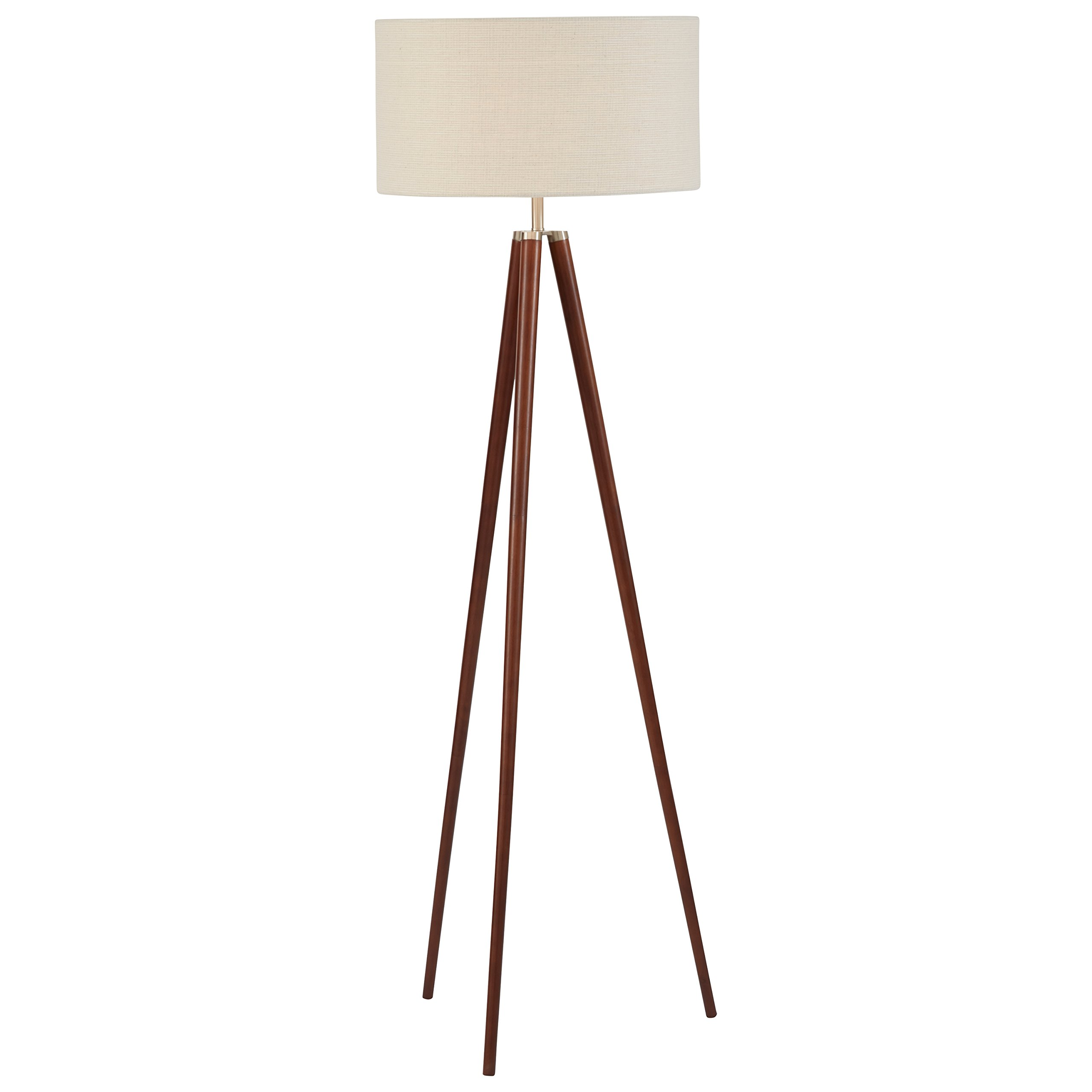 Stone & Beam Modern Tripod Floor Lamp, 61''H, With Bulb, White Shade by Stone & Beam