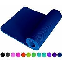 ReFit Fitnessmatte in 10 Farben / 1 cm oder 1,5 cm / dick und sehr weich / rutschfest / Maße 183 x 61 cm / mit Trageband / Die perfekte Matte auch für Yoga, Gymnastik, Sport, Turnen, Pilates