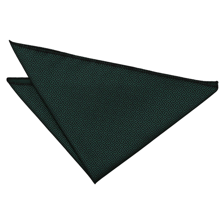 DQT Men Greek Key Patterned Handkerchief Pocket Square