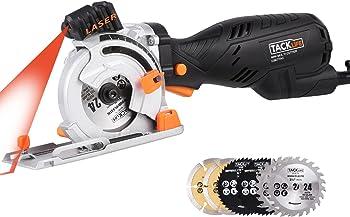 Tacklife CSK77AC Circular Saw 5.8A 705W with Laser 6 Blades