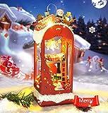 FSEARRT DIYドールハウス ミニハウス Ice and snow Christmas 手作りキットセット LED フレーム付き リビング インテリア プレゼント 癒しグッズ