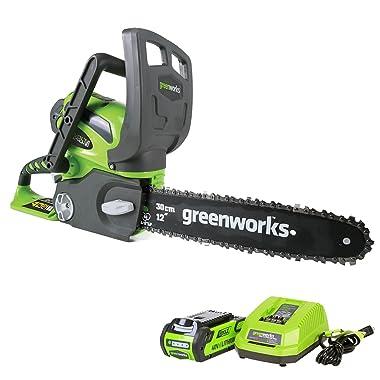 Greenworks 20262 12-Inch 40V Cordless Chainsaw
