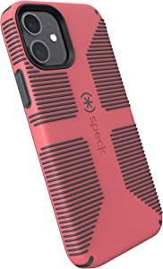 Speck Products CandyShell Pro Grip iPhone 12, iPhone 12 Pro Case, Raspberry Kiss Red/Slate Grey