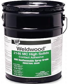 Dap 04664 55 Gallon Weldwood 2146 M.C. grado de alta sólidos nonflammable Spray adhesivo de contacto, verde: Amazon.es: Bricolaje y herramientas