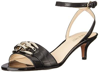 d897dc1a04 Nine West Women's Yellitout Leather Heeled Sandal, Black, 6.5 M US