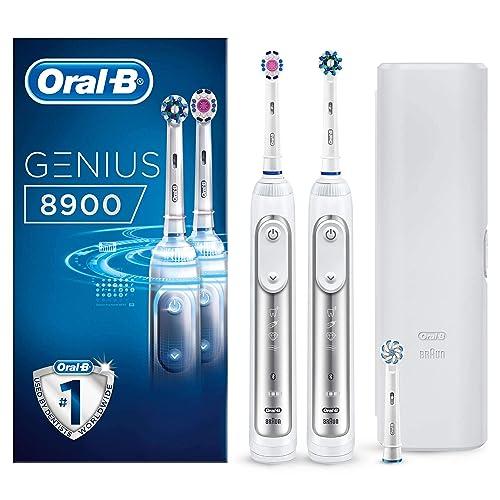 Oral B Genius 8900 Cepillo de dientes eléctrico con Tecnología de Braun 2 unidades