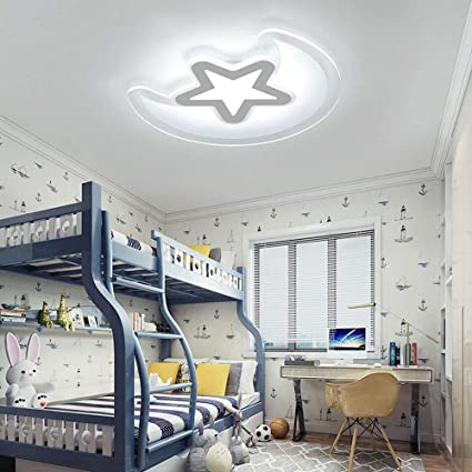 Amazon.com: LCTCXD Children\'s Ceiling Light White,Moon and ...