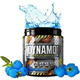 Protein Dynamix Dynamo Extreme Pre-Workout powder formula for extreme mental focus, energy and huge muscle pumps **NEW IMPROVED FLAVOURS!** (Blue Razz Blast, 225g)