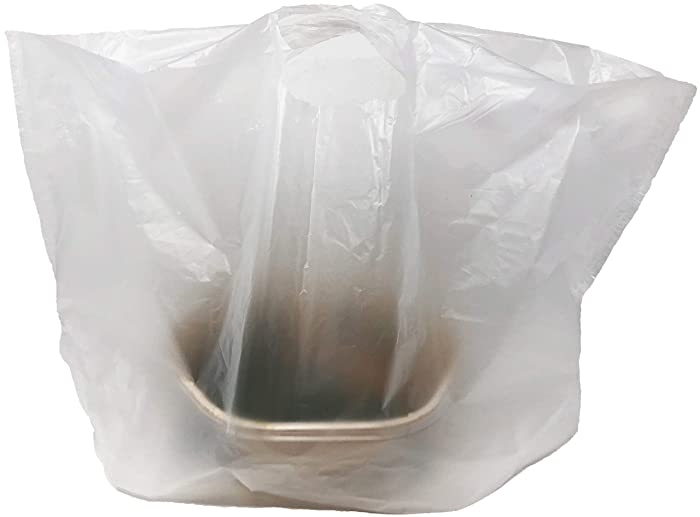 "Reli. Take Out/to Go Bags (500 Count Bulk) (Large 20""L x 9.5""W x 12""H) White Carry Out Shopping Bag, Die Cut Handle, Square Bottom, Reusable - Food Service, Restaurant Bags, Catering, Delivery Bags"