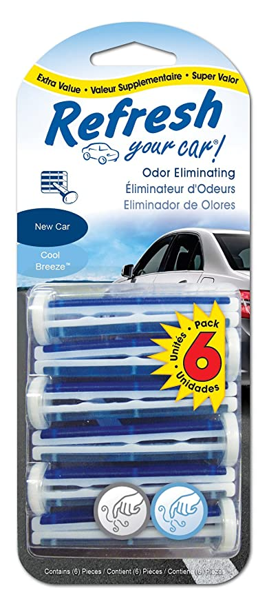 960b155c18b Refresh Your Car Odor Eliminating Auto Vent Stick Car and Home Air  Freshener