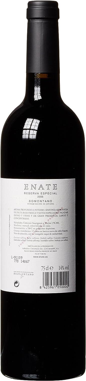 ENATE Reserva Especial 2005, Cabernet Sauvignon y Merlot, Vino Tinto, DO Somontano, Crianza 17 Meses, Botella 75cl: Amazon.es: Alimentación y bebidas