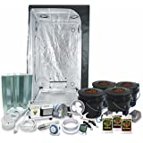 """Complete 3 x 3 (39""""x39""""x79"""") Grow Tent Package With 400-Watt HPS Grow Light + DWC Hydroponic System & Advanced Nutrients"""
