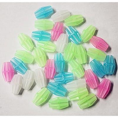 105pcs rectangle Couleurs assorties Mélange rectangle de roue de vélo rayons Plastique Clip Perle/Spoke Derections Clip en plastique Spoke Perle de vélo Fil de perles Perles