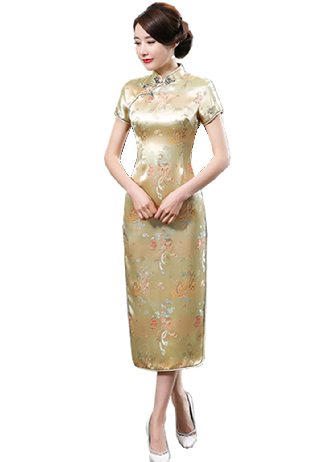 Shanghai Story Dragon Qipao Long Chinese Wedding Evening Dress Cheongsam XZ300