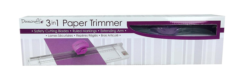 Dovecraft Trimcraft Fogli di carta 3 In 1, Trimmer-, altri DCBS85