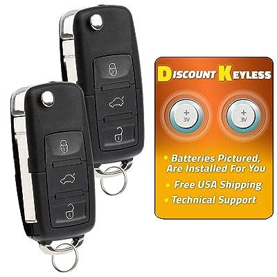 Discount Keyless Replacement Uncut Car Remote Fob Key For Volkswagen Passat Jetta Golf Cabrio HLO1J0959753AM (2 Pack): Automotive