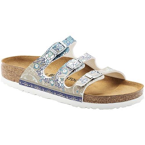 e65caeca39922 Birkenstock Florida 1009808 Ladies Ancient Mosaic Blue  Amazon.co.uk  Shoes    Bags