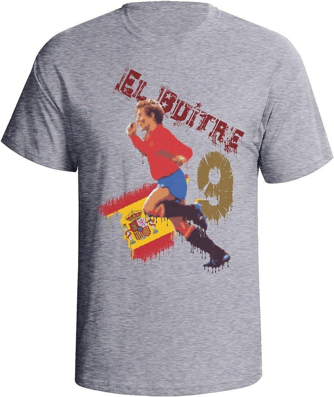Camiseta de fútbol para hombre Emilio Butragueno Espana Graffiti Gris gris 3XL: Amazon.es: Ropa y accesorios
