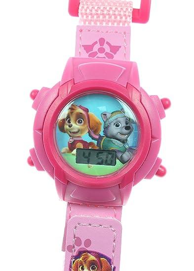 Paw Patrol de niña velcro reloj digital (Rosa)