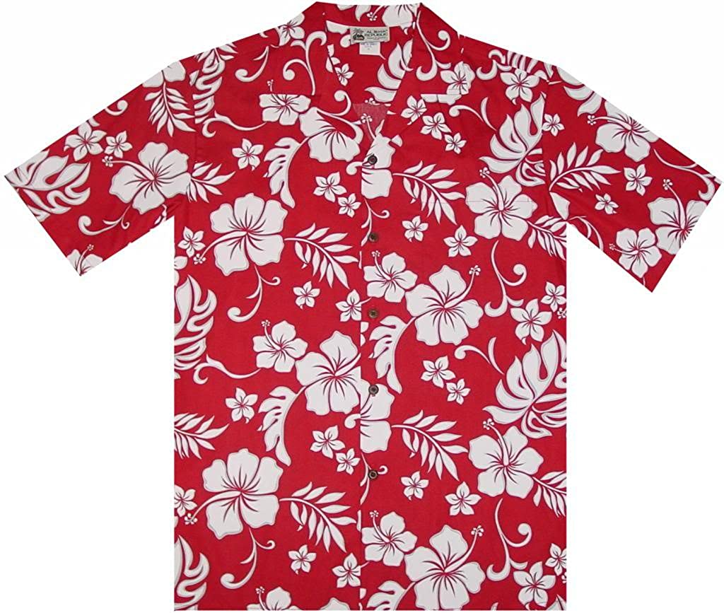 d9b44eb0de3 Classic Vintage Pareo Floral Flowers Men's Hawaiian Shirt at Amazon Men's  Clothing store: