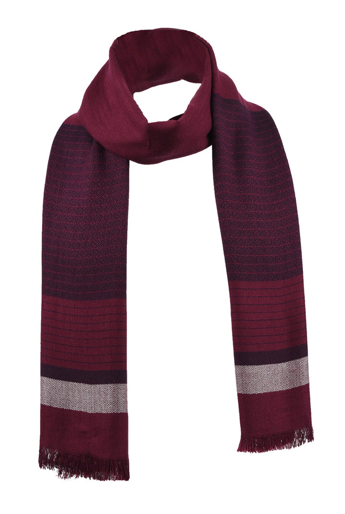 Runtlly Pure Bamboo Fiber Softness Comfortable Scarf(Red)