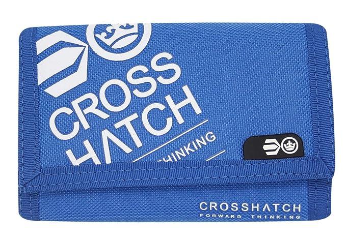 Crosshatch - Cartera para hombre, con tarjetero, triple plegado azul Affluence-Surf-the-Web: Amazon.es: Ropa y accesorios