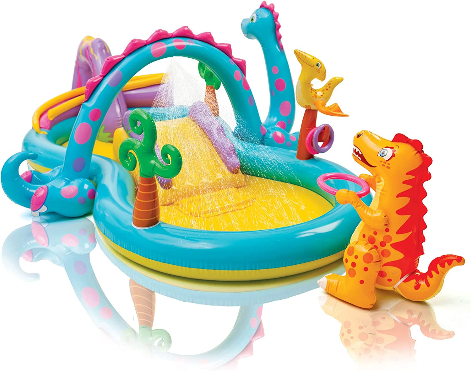 98in X 75in X 43in for Ages 2+ 2 Pack GHSF Dinosaur Inflatable Play Center