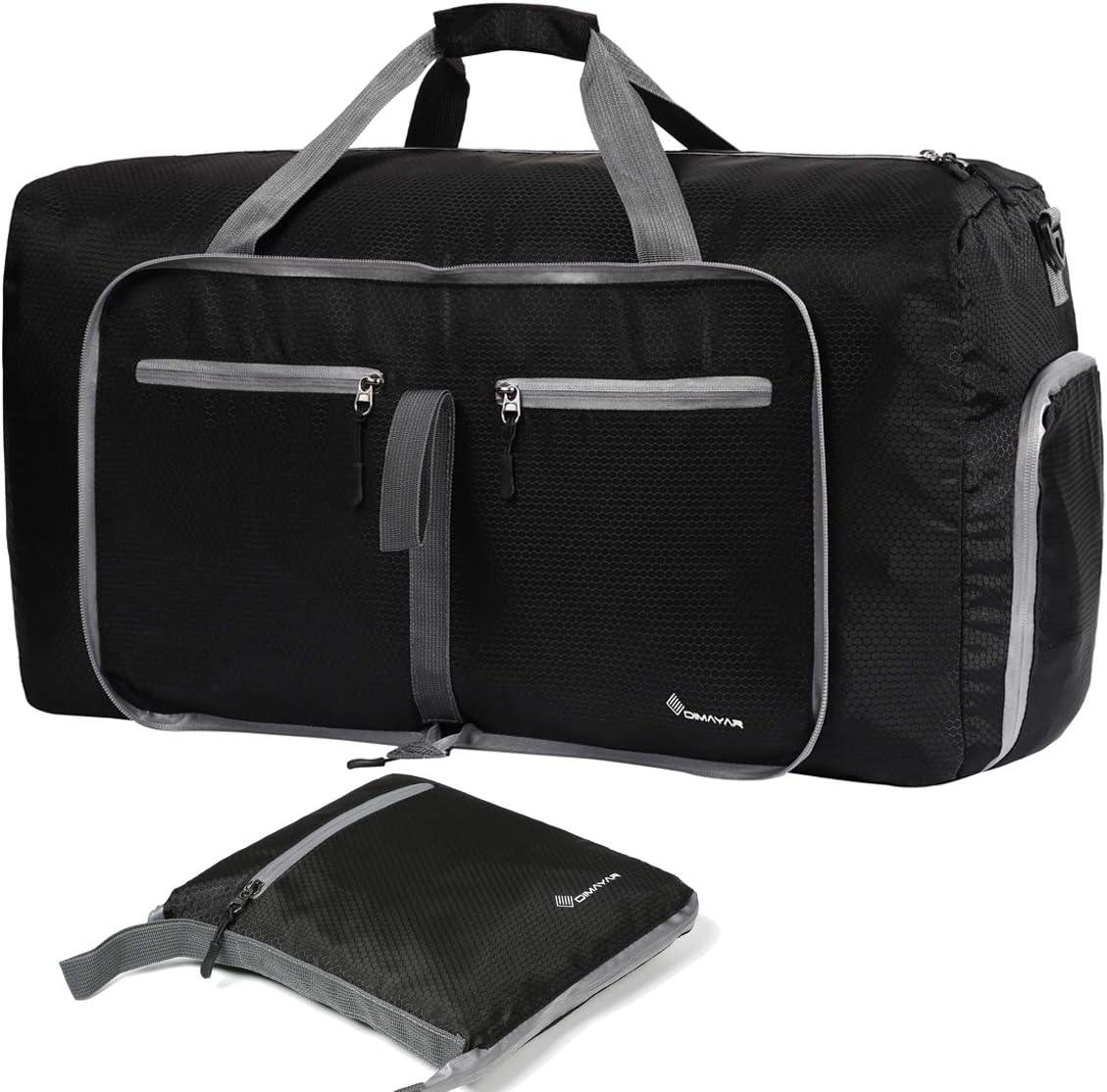 Dimayar Duffle Bag 60L Travel Duffle Bag for Men Women Waterproof Duffle Black