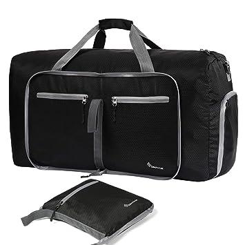 a22fcc0bd9be Amazon.com  Duffle Bag Dimayar 60L Travel Duffle Bag for Men Women  Waterproof Duffle Black  BroadCost