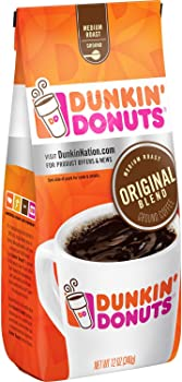 2-Pack Dunkin' Donuts Original Blend Ground Coffee (Medium Roast 12 oz)