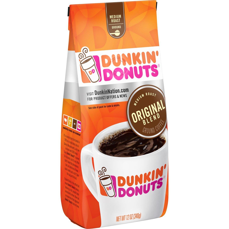 Dunkin' Donuts Original Blend Ground Coffee, Medium Roast, 12 Ounce