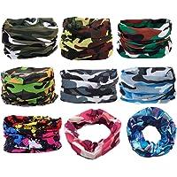 Scott Edward 6/9pcs Headbands Headwear elástico Magia Bufanda Bandana Máscara de Deportes Yoga sin Costuras Camuflaje, Camuflaje