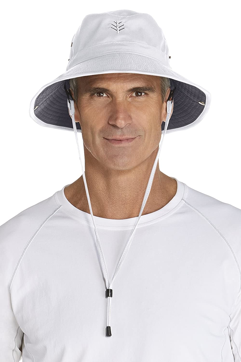Coolibar UPF 50+ Men's Featherweight Bucket Hat - Sun Protective