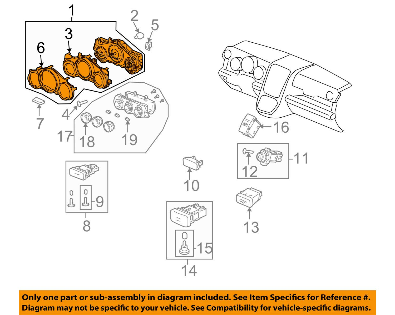 Honda Genuine 78100-SCV-L11 Combination Meter Assembly