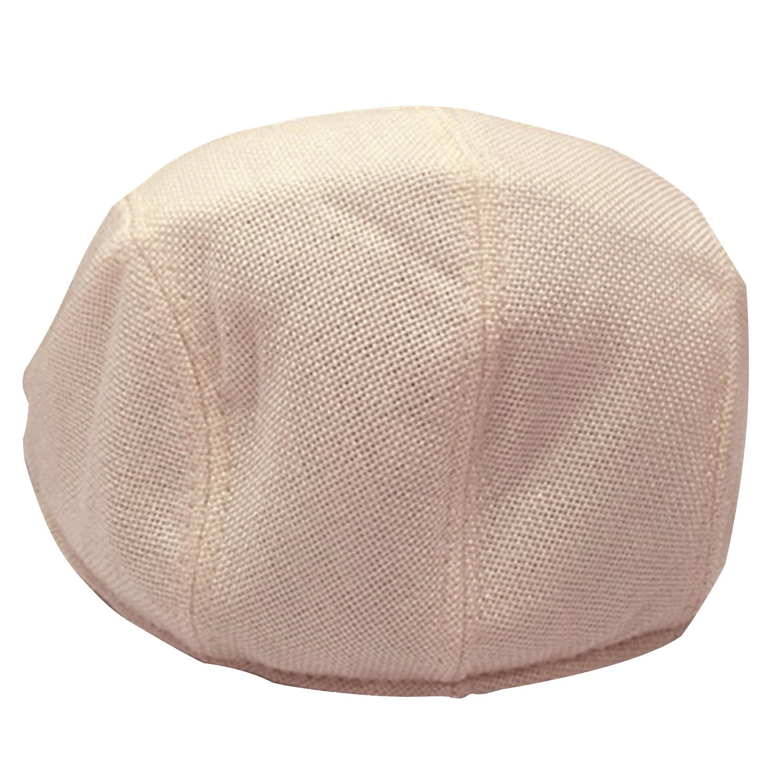 3047d48d92597 Unisex Men Women Linen-textured Pure Color Flat Peak Beret Cap Hat Beige   Amazon.ca  Home   Kitchen