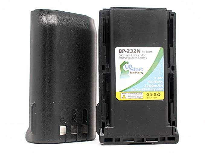 2 Pack - Replacement for Icom BP-232N Battery - Compatible with Icom BP232N Two-Way Radio Battery (2200mAh 7.4V Lithium-Ion)