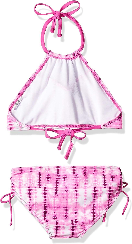 Pink 2t Kanu Surf Girls Morgan Ruffle Halter Bikini 2-Piece Swimsuit